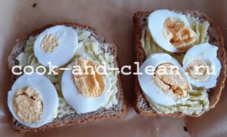 горячие бутерброды с картошкой и яйцом в духовке