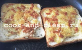 горячий бутерброд с картошкой и колбасой рецепт