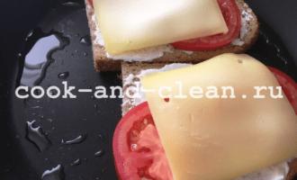 как приготовить горячи бутерброды с помидорами