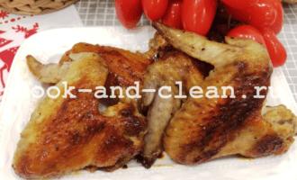 куриные крылышки в духовке с медом