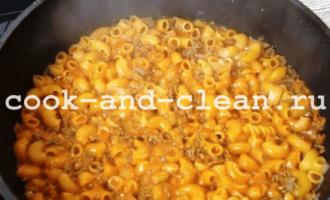 макароны с фаршем рецепт с фото