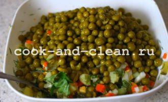 оливье без мяса постный