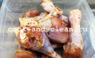 рецепт из куриных голеней с рисом