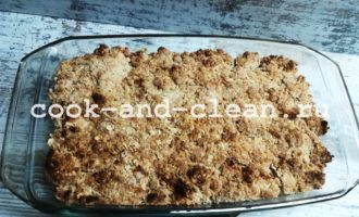 рецепт яблочного крамбла с фото