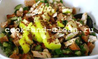 салат из куриной грудки огурцов