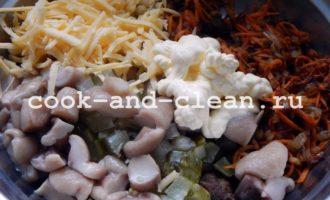 салат из печени с луком