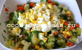 салат оливье без мяса и колбасы рецепты