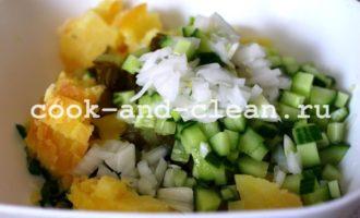 салат оливье без мяса и колбасы