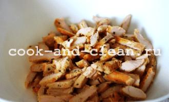 салат с куриной грудки фото