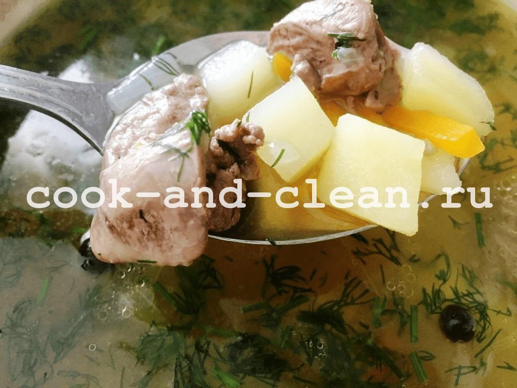 суп из куриной печени фото