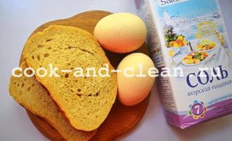 яичница с гренками рецепт