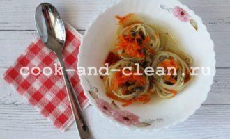 Гнезда с фаршем рецепт с грибами