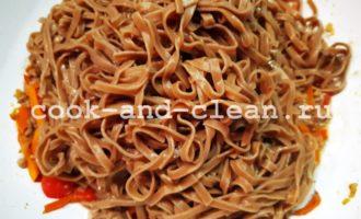 Гречневая лапша с фаршем рецепт