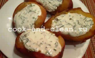 Картошка с творогом и зеленью