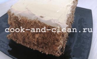 быстрый торт из печенья рецепт