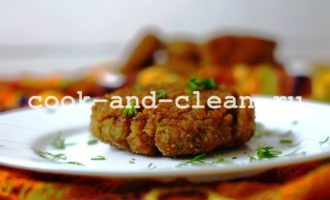 вкусные котлеты из куриной печени с гречкой