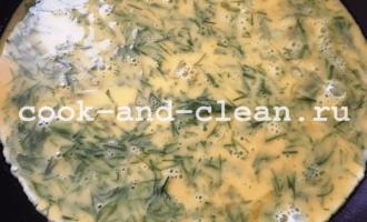 вкусный омлет на сковороде с сыром