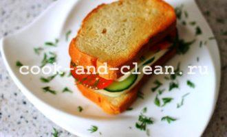 горячие бутерброды с моцареллой рецепт