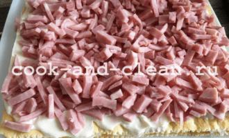 закусочный торт с грибами пошагово рецепт