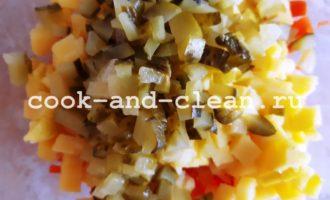 как приготовить винегрет с квашеной капустой