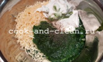 лепешки с сыром и шпинатом