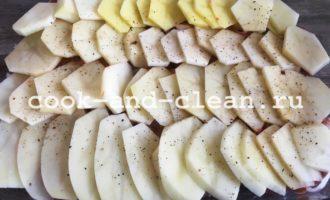 мясные отбивные в духовке с картошкой