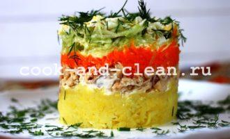 простые салаты из консервированной рыбы