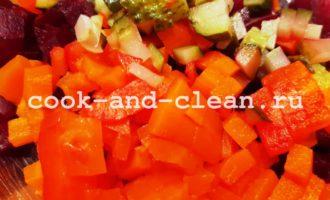 салат винегрет с селедкой