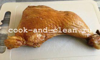 салат копченая курица корейская морковь кукуруза