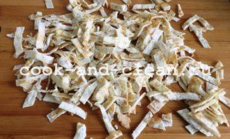салат с кальмарами и блинами рецепт фото