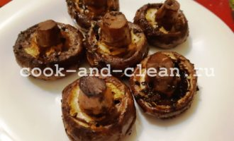 Запеченные грибы шампиньоны