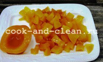 бисквит с консервированными персиками рецепт с фото