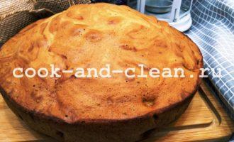 бисквит с консервированными персиками рецепт фото