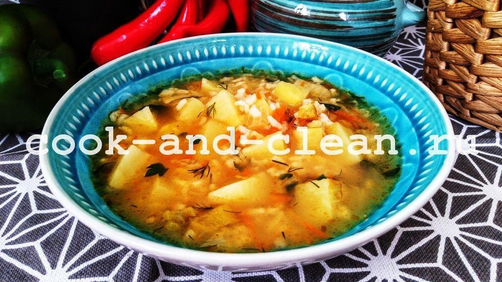 вкусный суп с рисом
