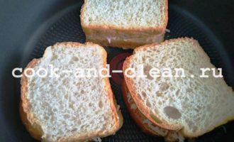 горячий бутерброд с колбасой и сыром рецепт с фото