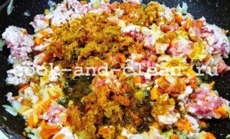 гречка с фаршем на сковороде рецепт с фото