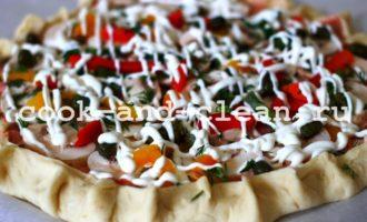 домашняя пицца в духовке с грибами пошаговый