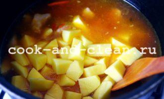 жаркое по-домашнему из свинины с картошкой рецепт пошагово