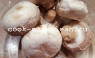 запечь грибы шампиньоны целиком