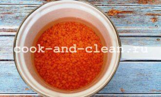 как варить красную чечевицу пошаговый рецепт