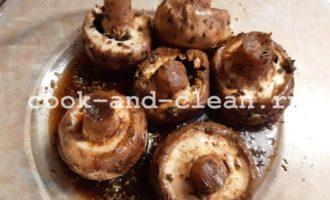 как вкусно запечь грибы шампиньоны в духовке
