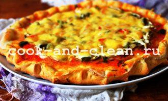 как готовить домашняя пицца в духовке с грибами