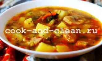 как приготовить жаркое по-домашнему из свинины с картошкой