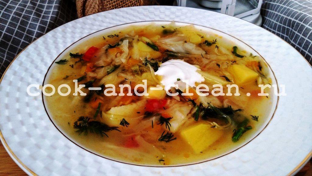 как приготовить щи из квашенной капусты рецепт