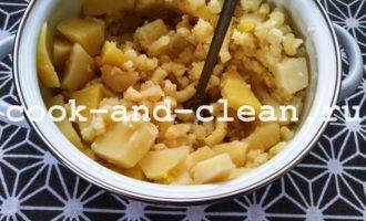 картофельное пюре с яйцом и молоком пошагово