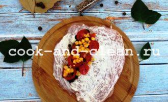 куриное филе с начинкой в духовке фото рецепт