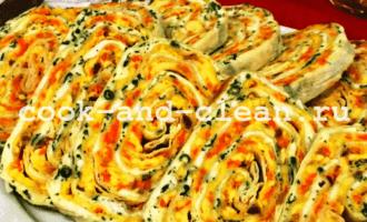 лаваш с сельдью и сыром