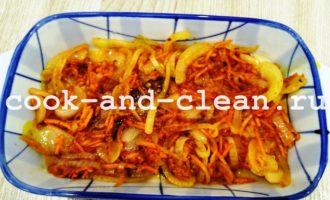 минтай в духовке с морковью и луком пошагово