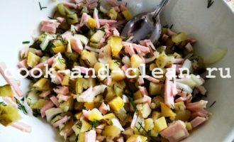 немецкий картофельный салат с фото