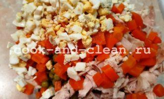 оливье без майонеза и картофеля